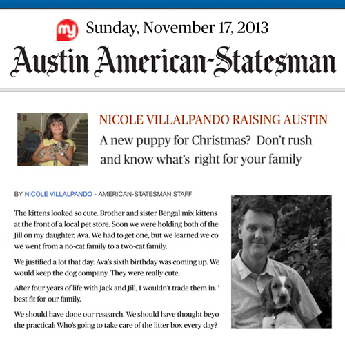 Article featuring Fidelio in Austin American Statesman 2013
